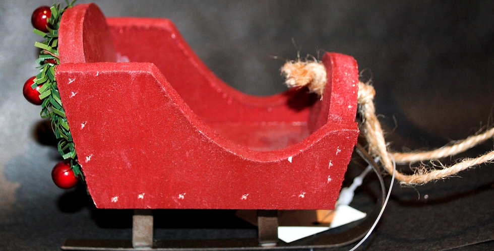 Christmas ornament - Red sleigh