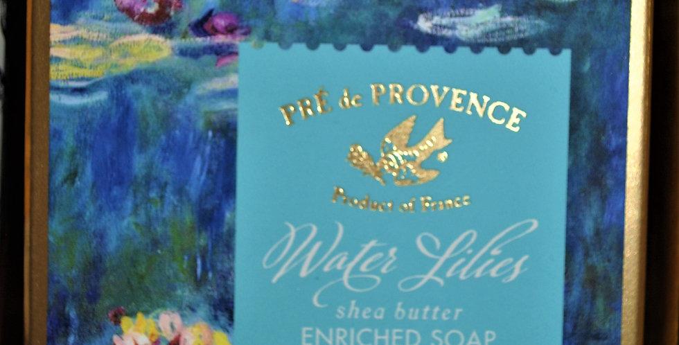 Shea butter bar soap- Water Lilies