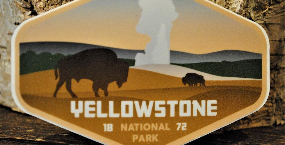 Sticker - Yellowstone bison