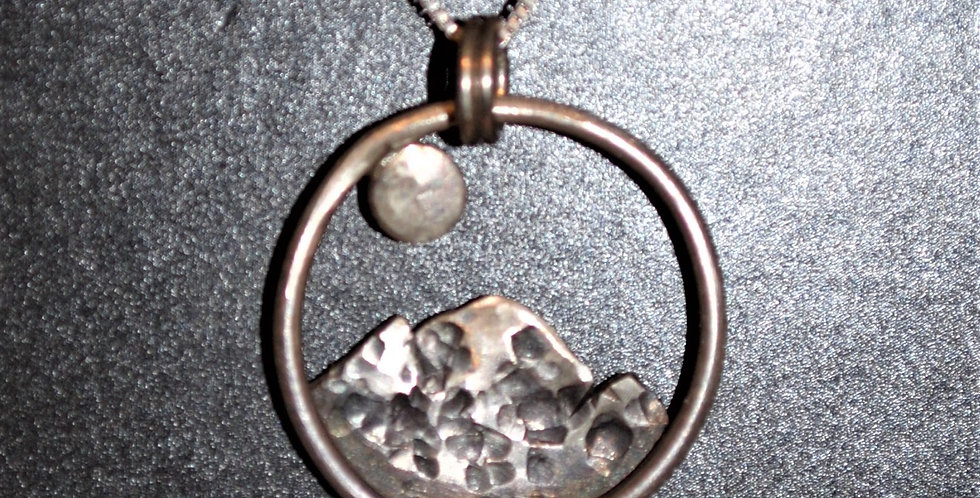 Necklace - Moon over the mountains