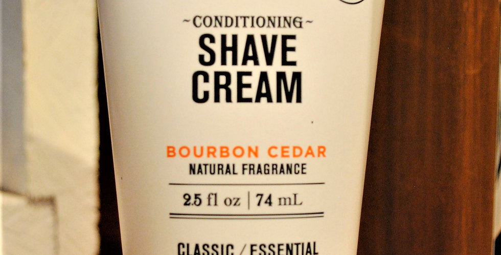 Shave cream Bourbon cedar