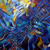 Guitarra blau