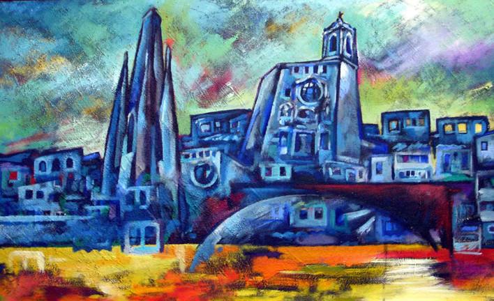 Girona i blaus