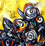 Flors sobre negre
