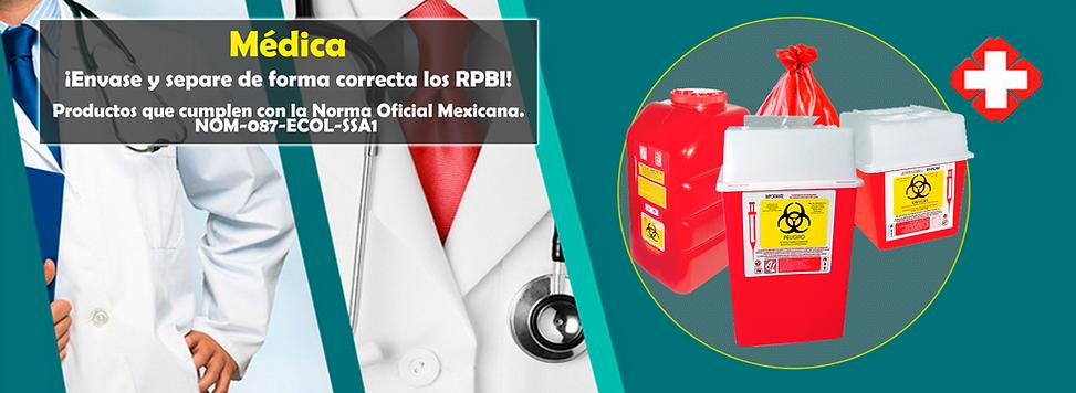 Envase de Forma correcta los desechos RPBI | NOM-087-ECOL-SSA1 | Venta de Bolsas y Recolectores | Envíos