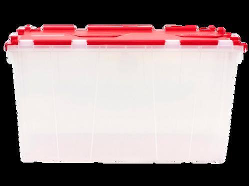 VEU0223 Caja Organizadora Transparente con Tapa Abisagrada 59.5x39.3x31.5 cm