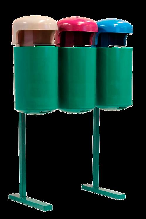VWN0033 Estacion de Reciclaje Triple 90 Lts.