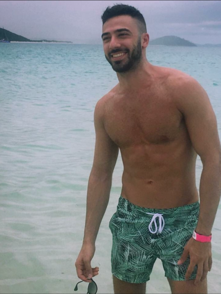 Topless Male Waiter Michael