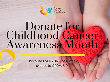 Donate for Childhood Cancer Awareness Month