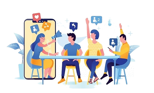 illustration-of-refer-a-friend-concept-w