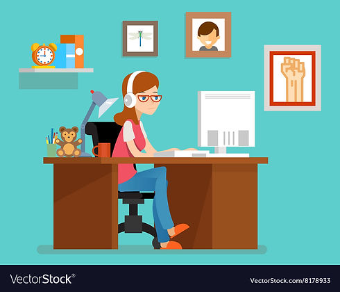 freelance-woman-working-at-home-with-com