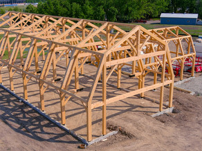 Barn timbers are up!