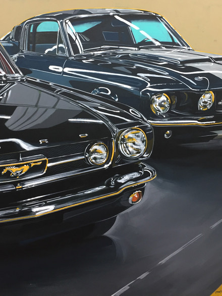Pair of Mustangs