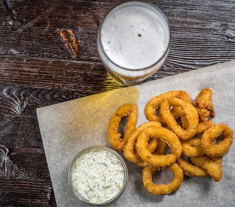 Pacific West Formed Crumbed Squid Rings 1KG (27GX37)