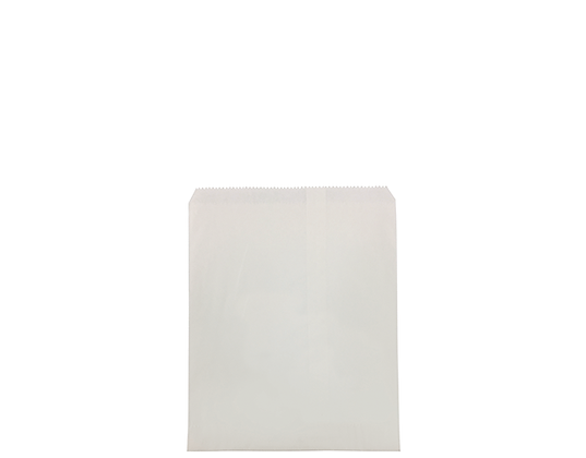 #3 Flat White Paper Bag White, Unstrung (500's)
