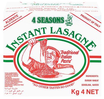 4 Seasons Instant Lasagne 4KG