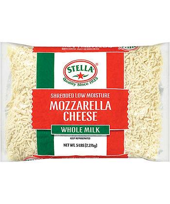 Stella Mozzarella Shredded Frozen 2.27KG (6)