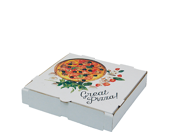 "9"" White Pizza Boxes (50's)"