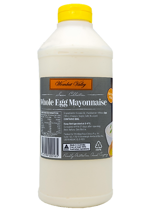 Wombat Valley Whole Egg Mayonnaise 1L (6)