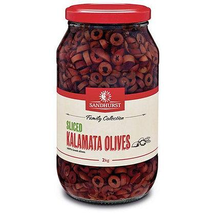 Sandhurst Sliced Kalamata Olives 2KG