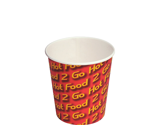 12Oz Large Paper Chip Cups Hot Food 2 Go™Sleeved (50's)