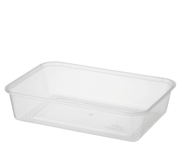 MicroReady® Rectangular Takeaway Container 500ml Clear (50's)