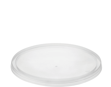"""MicroReady® Round Flat Takeaway Container Lid - To suit 120 mm Round Containers"