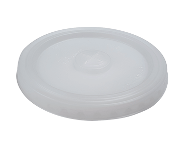 Milkshake Cup Lid Flat with Straw Slot Eco-Smart® Natural (100's)