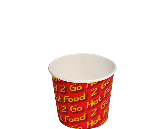 8Oz Small Paper Chip Cups Hot Food 2 Go™Sleeved (50's)