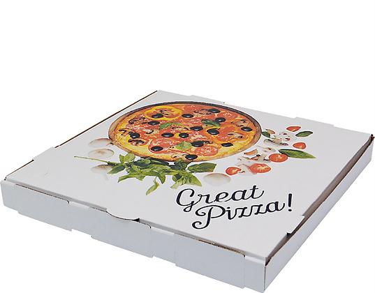 "15"" White Pizza Boxes (50's)"
