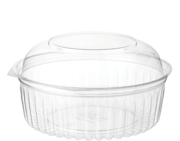 Eco-Smart® Clearview® Food Bowls Hinged Dome Lid Clear 24OZ (25's)