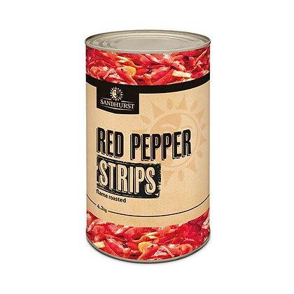 Sandhurst Flame Roasted Red Pepper Strips 4.2KG