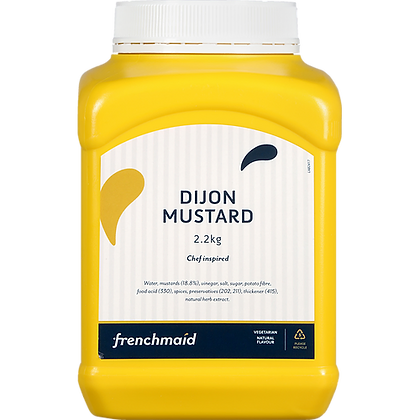 French Maid Dijon Mustard (Slighty Seeded) 2.2KG (6)