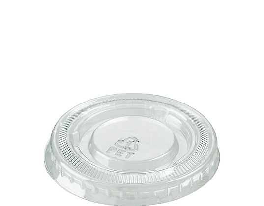 Small Portion Control Cup Lid -P.E.T. Clear To suit CA-P050 to CA-P100 (100's)