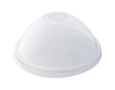 HiKleer® P.E.T. Cold Cup Lid Dome with Straw Slot Clear To Suit 14 oz, 16 oz, 20