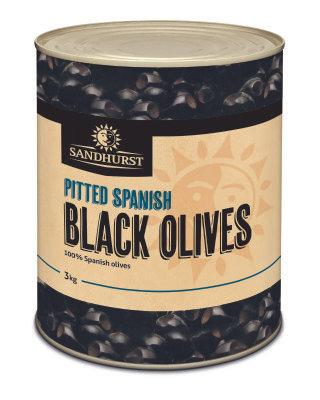Sandhurst Pitted Spanish Black Olives 3KG (6)
