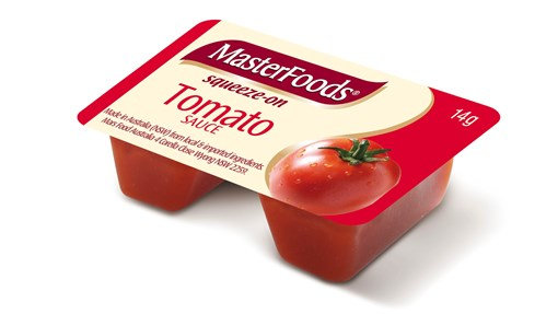 Masterfoods Tomato Sauce Squeeze On Portion (14GX100)
