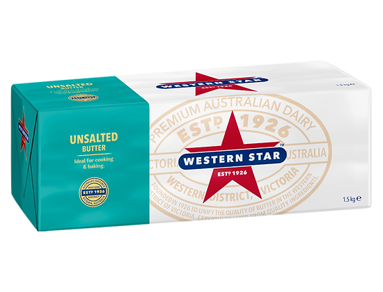Western Star Unsalted Butter 1.5kg