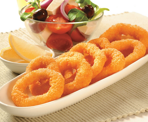 Pacific West Natural Crumbed Squid Rings 1KG (20GX50) (5)