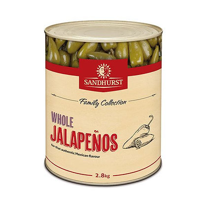 Sandhurst Whole Jalapeno Peppers 2.8KG A10 (6)
