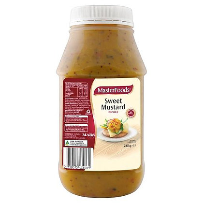 Masterfoods Sweet Mustard Pickle Relish 2.6KG (6)
