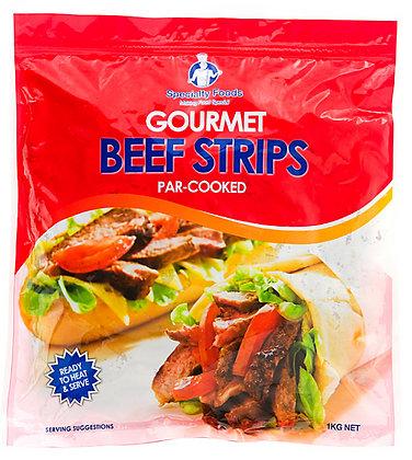 Specialty Foods Gourmet Beef Strips (Par Cooked) 1KG