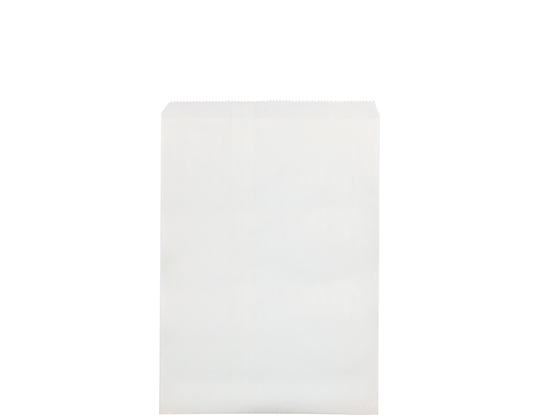 #6 Flat White Paper Bags White Strung (500's)