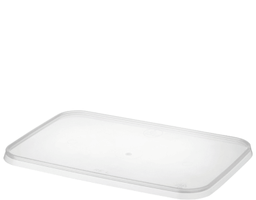 MicroReady® Rectangular Container Lid Flat (50's) To Suit Rectangular Containers