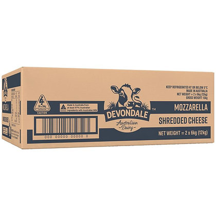Devondale Shredded Mozzarella Cheese 6KG (2)