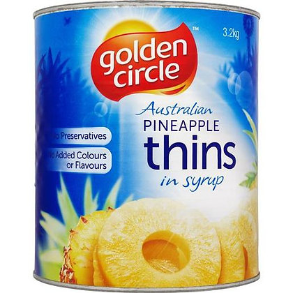 Golden Circle Pineapple Thins in Syrup 3.2KG A10 (3)