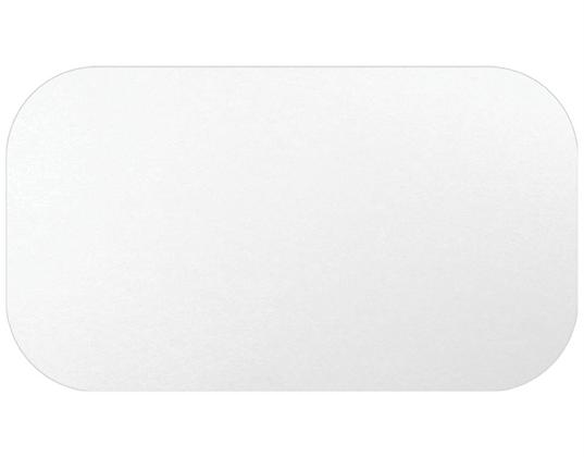 Medium Rectangular Take-Away Container Lids To suit CA-RFC445/446 White (100'S)