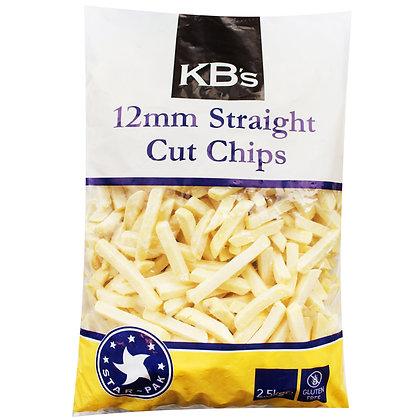 KB's Straight Cut Chip Gluten Free 12mm (2.5KGX4)