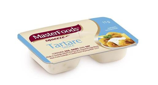 MasterFoods Tartare Sauce Squeeze On Portion (11Gx100)