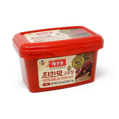 Korean Hot Red Chilli Paste Gochujang Red Tub 1KG (6)